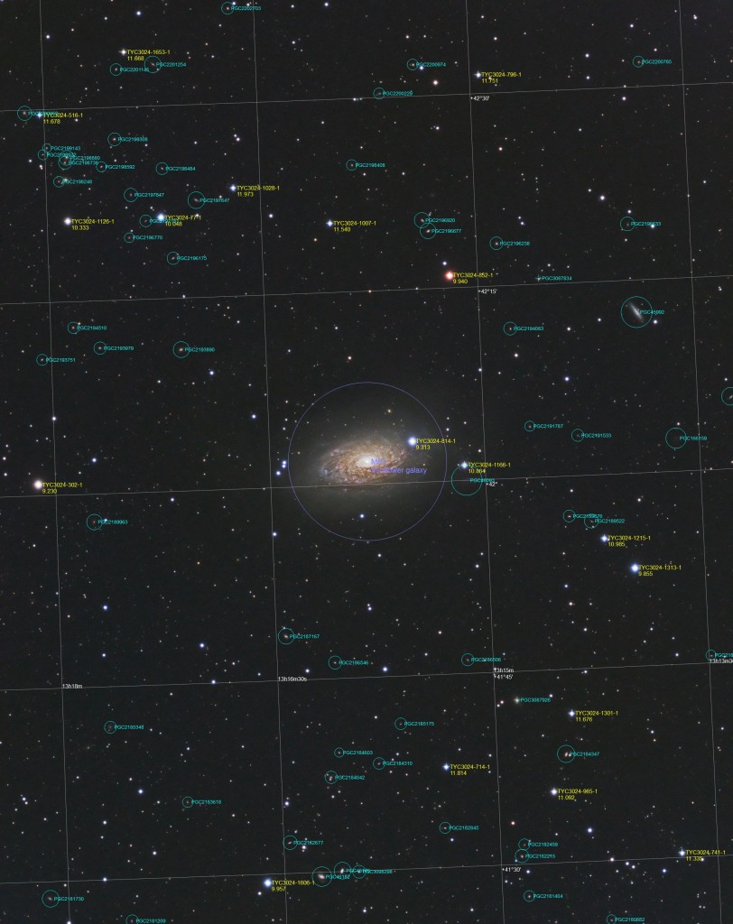 M63 - Annotated